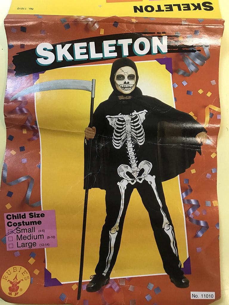 Skeleton Costume Kid S Size Small Grand Illusions